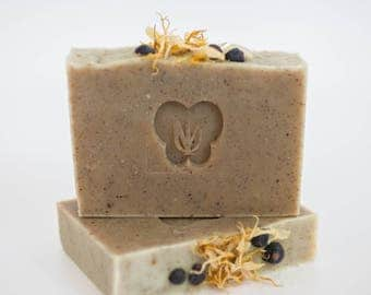 LOST in the WOODS- Cold Process Organic Soap - Organic Cocoa Butter