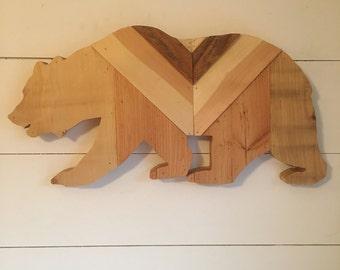 Repurposed Wood Bear