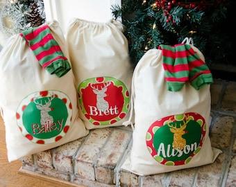 Personalized Christmas Drawstrings | Cute Santa Sack!