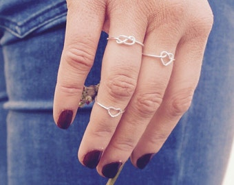 Love Heart Wire Ring, Wire Band, Classic Sterling Silver Jewellery, Promise Ring, Love Ring, Minimalist Ring