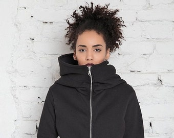 Workout Hoodie/ Hooded Sweatshirt Jacket/ Hoodie Sweater/ Big Hood Hoodie/ Zip Up Hoodie/ Oversized Sweatshirt/ Gym Hoodie/ Fashion Hoodie