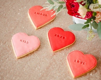 Valentines Biscuits, loveheart cookies, personalised valentines gift, i love you gift, lovehearts, gift for boyfriend, red cookies,