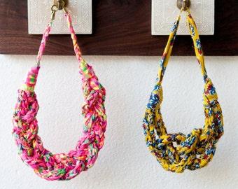 Wildflower Sailor Necklace Knitting Pattern ~ Easy, beginner knitter level!