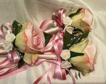 Vintage Rose Flower girl Wand