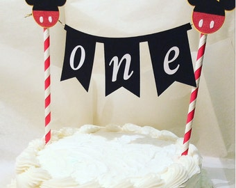 Mickey Mouse cake topper-Mickey mouse clubhouse party-smash cake toppers-birthday boy-Mickey birthday- 5-7 days before it's shipped
