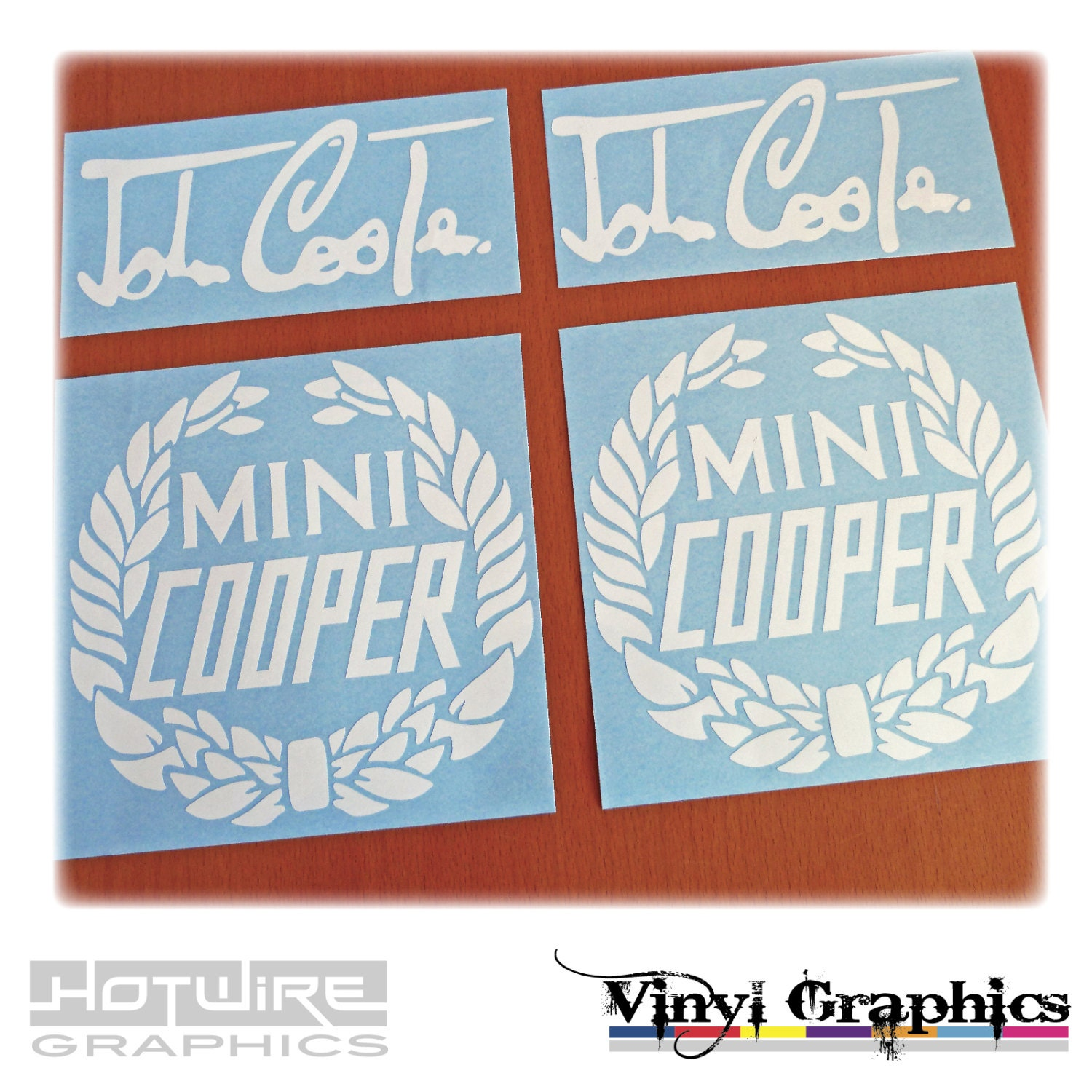 vinyl car decal stickers - mini cooper signature graphics