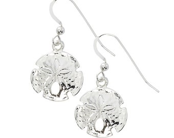 Polished Sand Dollar Drop Earring