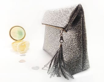 Will you be my bridesmaid gift set Silver bridesmaid clutch set Wedding gift bag Bridesmaid proposal bag Bridal shower gift Leather clutches