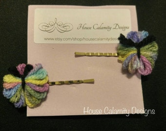 Whimsical Butterfly Bobby Pins