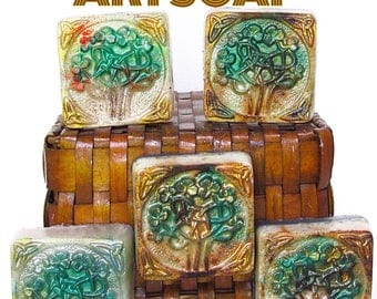 TREE SOAP,Celtic,celtic eternity knot,shamrock,tree of life,woods ,forest,wood,camping,hiking,arboretum,nature,tree branch,nymph,elf,irish