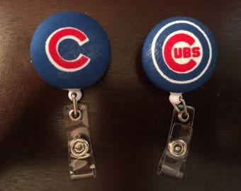 Chicago Cubs Badge Reel ID Holder