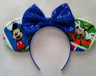 Fab 4 reverseable ears- Mickey, Goofy, Donald and Pluto