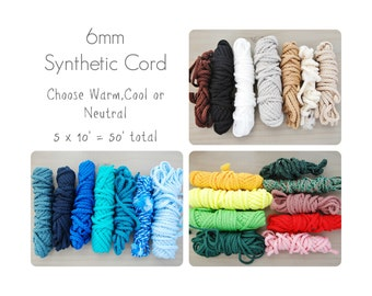 Macrame Cord // Synthetic 6mm Rope // Thick Macrame String // Weaving // Crocheting