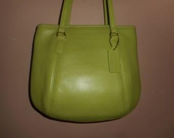 "VINTAGE COACH 11"" X 9"" Green Tote Bag  #A76-9996"