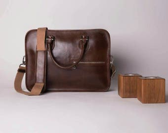 Men Leather MESSENGER BAG from %100 leather in brown leather