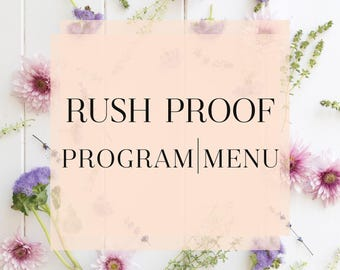 Rush My Order - Any Program or Menu - One Business Day Turnaround - Next Day Proof