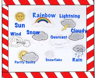 Whats the Weather for Felt Boards, Preschool Learning Activities for Toddlers, Early Childhood Curriculum
