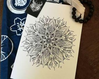 Mandala (original design) - Limited print A4