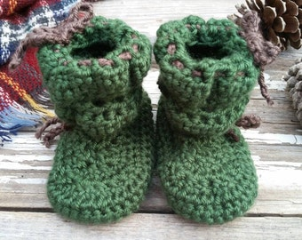 Green Baby Shoes / Dark Sage Baby Shoes / Baby Girl Winter Shoes / Baby Girl Fall Shoes / Baby Girl Shoes / Baby Girl Crib Shoes