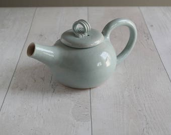 Handthrown Duck Egg Blue Teapot - Two Cup Teapot - Ready to Ship
