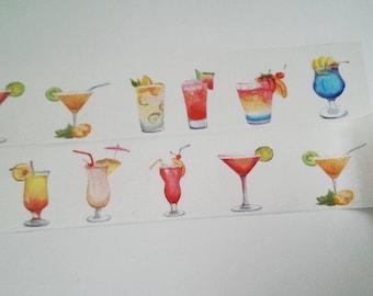 Design Washi tape cocktails drinks of summer