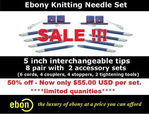 ebony circular knitting needles № 222349