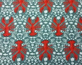 Larry the Lobster Printed Cotton Jersey
