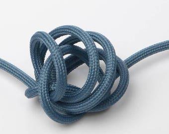 Textile cable node collection - blue oil