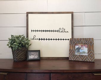 Heartbeat Sound Wave Rustic Wood Sign