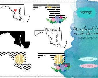 Maryland svg, Maryland  vector file, Maryland SVG file, svg, Maryland  state, Maryland state silhouette,MD svg  ID#st-md
