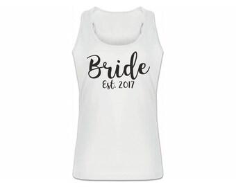Bride Est 2017 Tank, Bride Est 2017 Tank Top, 2017 Bride Tank Top. Bride Est, Bride Established 2017 Tank, Bride 2017 Tank Top, Bride 2017