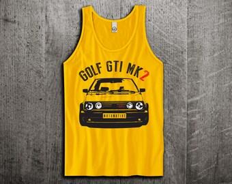 VW GTI Tank Top, Golf gti t shirts, Classic golf shirts, Unisex tanks, gti mk2 t shirts, gym tanks, VW golf gti Tank tops by Motomotiveink