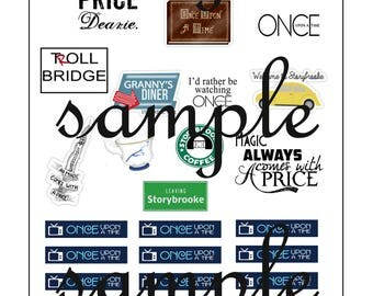 once upon time printable planner stickers TV SHOW