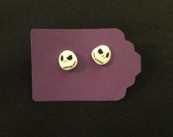 Nightmare Before Christmas Jack Skeleton Earrings