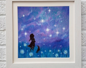 Make a wish,Fine Art, Mounted Giclee Print, UK Seller.