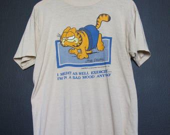 Garfield Bad Mood 1978 Vintage Tshirt