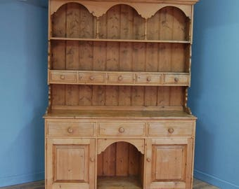 Fab! Large Solid Pine Country Kitchen Dresser Display Sideboard