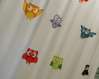 Curtains with owls,Kid's Room Baby Nursery Curtain