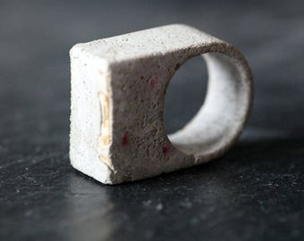 Concrete Ring   Chunky Ring   Statement Ring   Concrete Jewellery   Ring