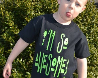 I'M SO AWESOME!-kid's t-shirt