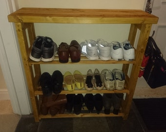 Handmade chunky shoe storage