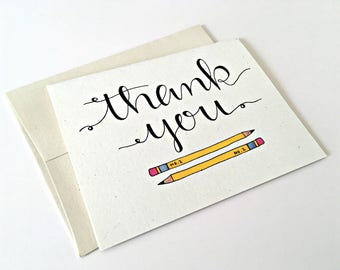 Teacher Thank You Card / Teacher Appreciation Week /Teacher Gift / Teacher Card /