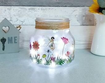 Fairy Jar, Girls Night light, Childs room Lighting, Table Lamp, Home Lighting, Fairy Garden, Mason Jar, Magical Faeries Jar, New Baby gifts