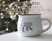DEFECTIVE/DAMAGED! Superior Wizards Drink Tea Magical Cauldron Mug