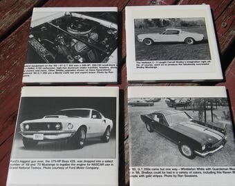 Ford Mustang 4 Pack Tile Coasters