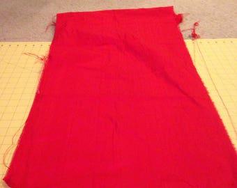 Red Silk Dupioni