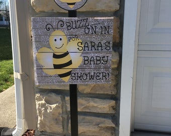 New Bumble Bee Baby Shower Yard Sign