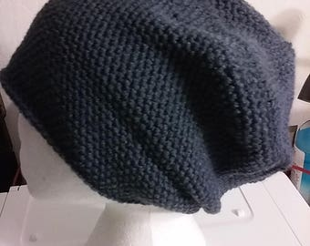 Charcoal Grey - Hand Crocheted