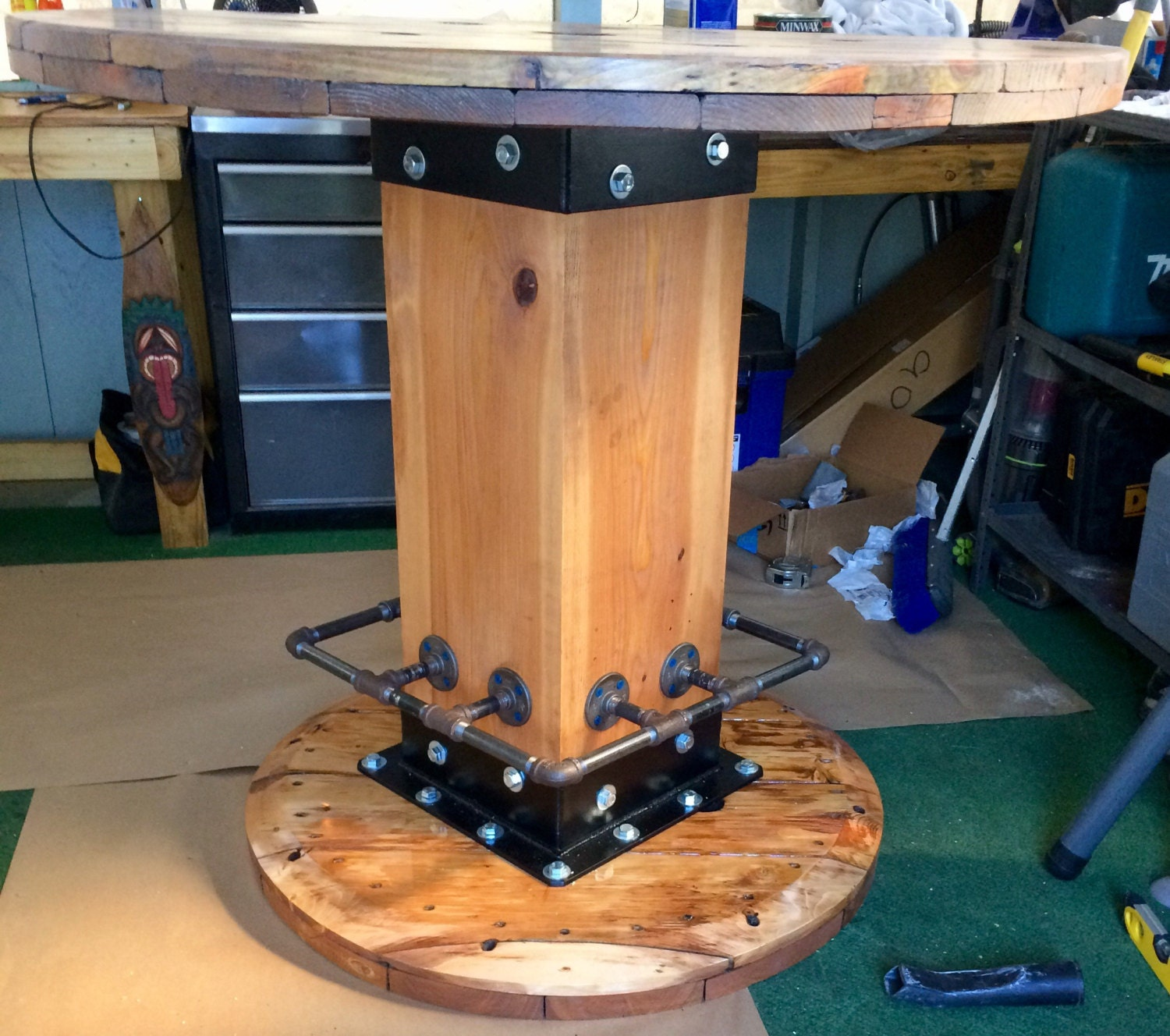 Wire spool table for Wire reel table