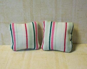 miniature cushions,doll house cushions, minisature accessories, doll house accessories